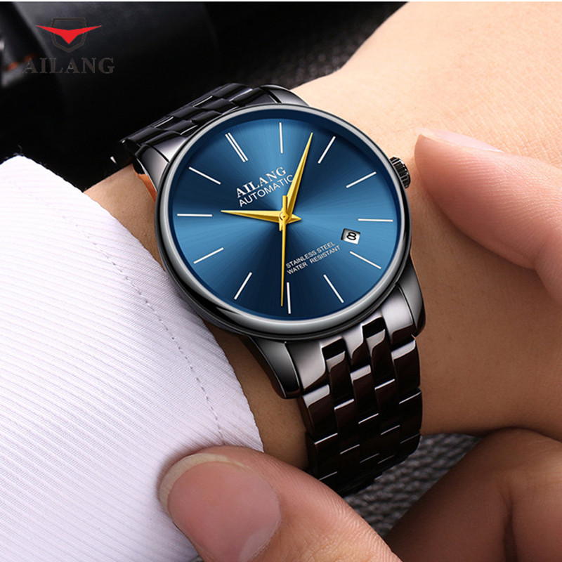 цена на AILANG Fashion Male Perfect Texture Mechanical Wristwatches Rhinestone Water Resistant Shock Resistant Complete Calendar A060