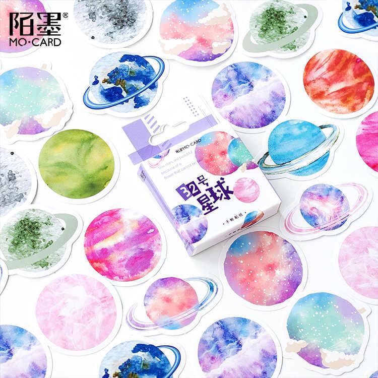40 stks/partij Cartoon Cosmos Planet Stickers Voor Snowboard Laptop Bagage Auto Koelkast Auto Speelgoed Stickers Gift Schoonheid