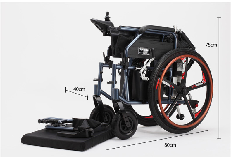 New product lightweight power electric wheelchair with 320W motor 5