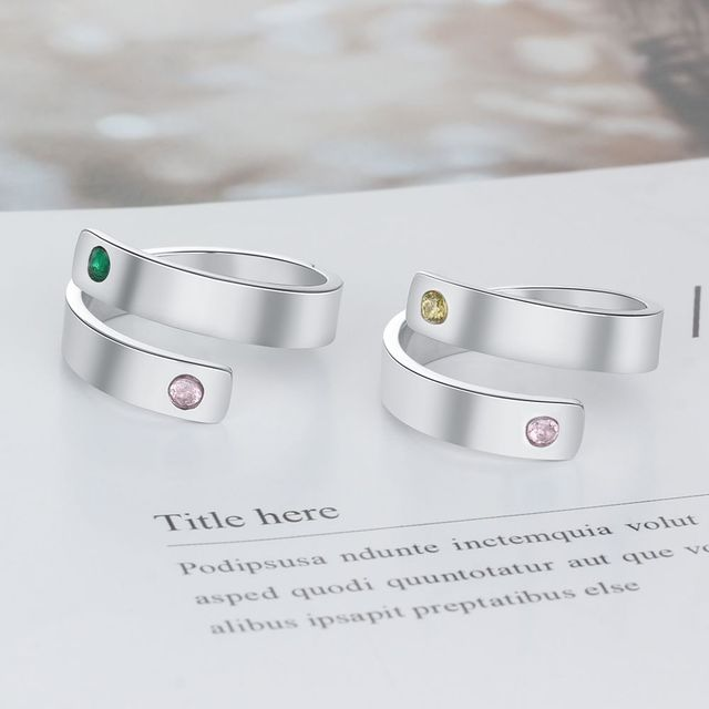 Personalized Birthstone Ring 2