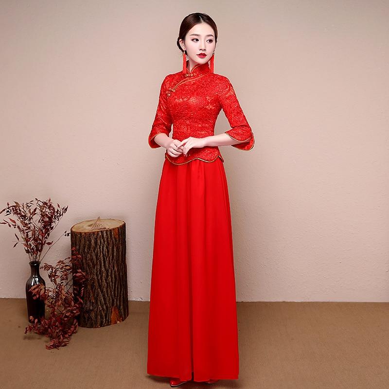 Bonito Vestido De Boda Tradicional China Ideas Ornamento Elaboración ...