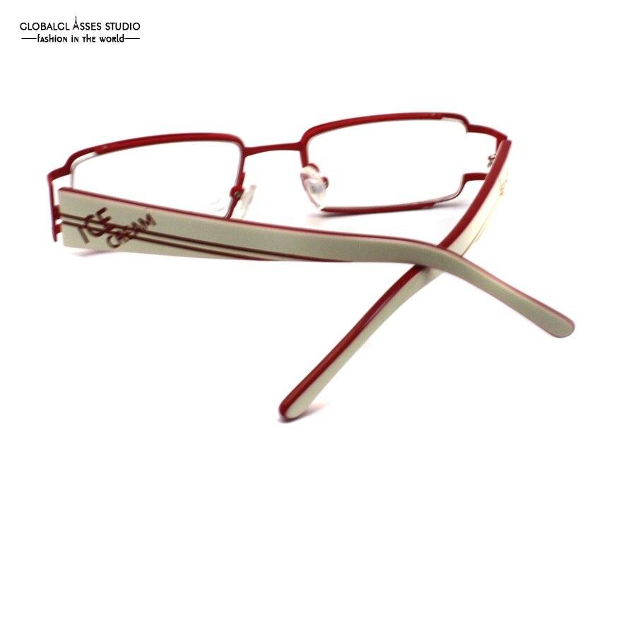 Hohe Qualität Kleine Form Rechteck Objektiv Metall Frauen Rahmen Rot ...