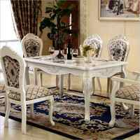Modern Style Table 100% Solid Wood Italy Style Luxury Dining Table Set 6 chairs o1115