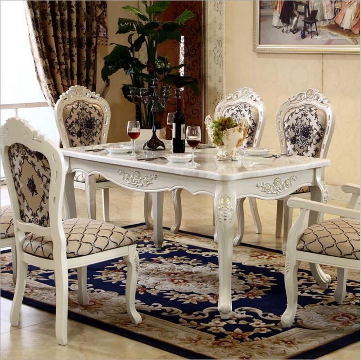 Tabela de Estilo moderno 100% Itália Estilo de Luxo Conjunto De Mesa De Jantar 6 cadeiras de Madeira Maciça o1115