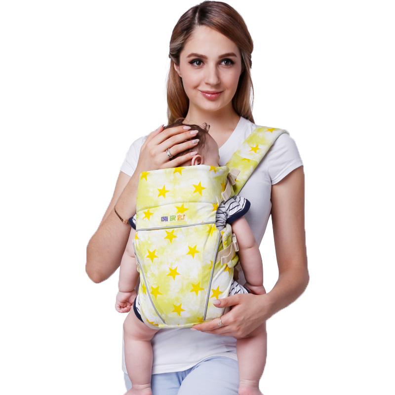 Happy Bear 0-48 Months Cotton Comfortable Breathable Multifunctional Back Facing Baby Carrier Load 20Kg Ergonomic Baby Sling happy bear multifunctional baby sling lumbar bended baby lumbar stool horizontal hold four seasons breathable and lightweight