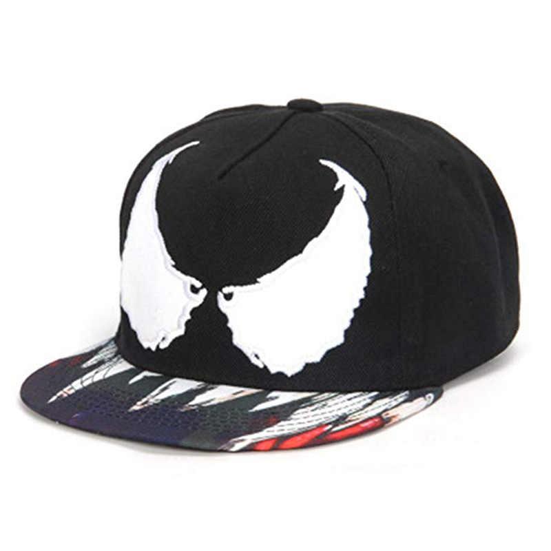 b34bf70811f Movie Venom Cap Snapback Cosplay Baseball Cap Hip Hop Hat Adjustable Men  Women