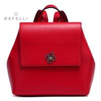 BAFELLI 2017 Genuine Leather backpacks teenage girls school backpacks womens luxury backpack red black bolsa mujer women bag