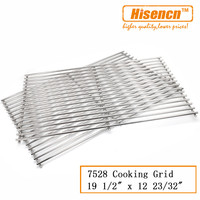Hisencn 7528 set of 2 19.5 x 12.7'' BBQ Stainless Steel Cooking Grid Grates Parts Replacement For Genesis E 300 S 300 Gas Grill