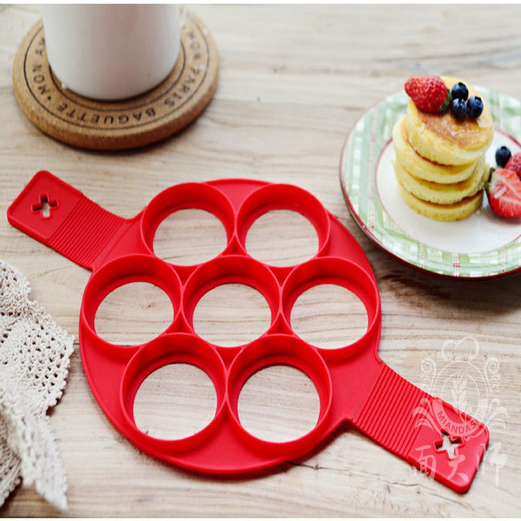 1pcs Molde tortilla tortilla silicona Fast & Easy Way to Make Perfect Pancake Omelette Helper Cooking Tools Pancake Maker Si
