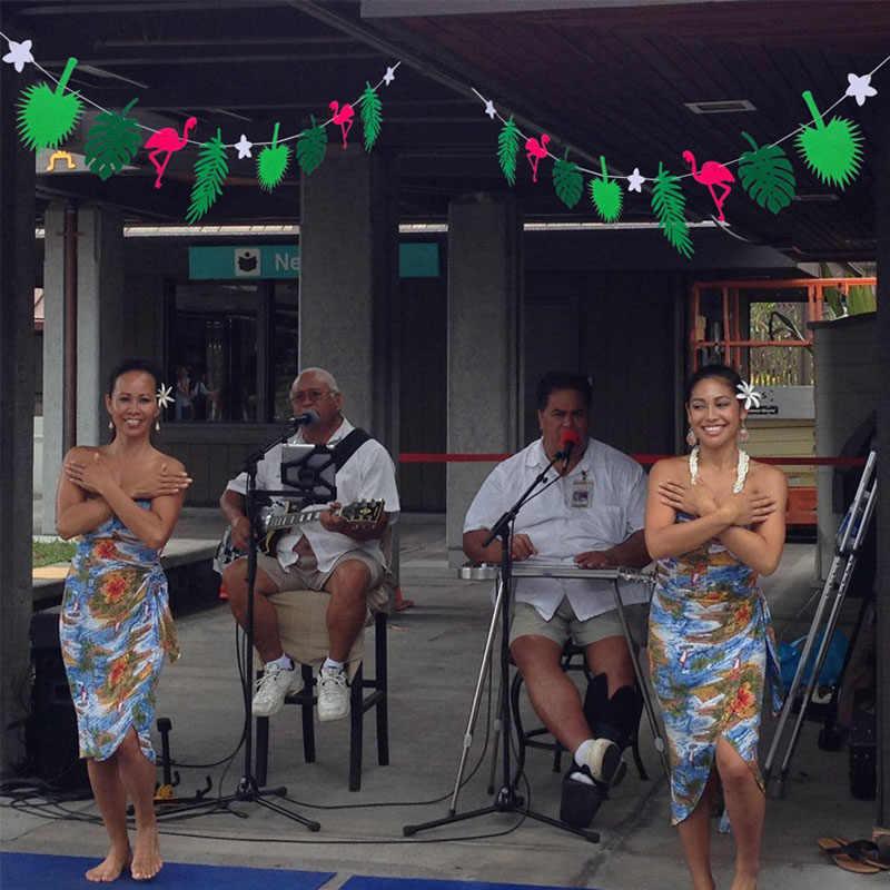 برّاية أوراق شجر الأناناس الاستوائية لحفلات أعياد ميلاد الطفل وحفلات الزفاف وحفلات الزفاف في هاواي لتزيين طاولة الشاطئ
