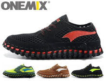 Original ONEMIX Brand Men Running Shoes Arch Breathable Lightweight Knitting Forsted Sports Sneakers Lazy Maxes Size 44