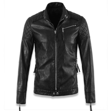 Name Brand Plus Size Mens Leather Jackets With Skulls China Imported Men's Skulls Leather Jacket Male Branding Clothes Coat C003