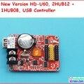 Huidu a40s/U60 + поддержка usb, управление размером 512*32; p10 светодиодные панели контроллер, поддержка HUB12, HUB08, monochrom, один цвет контроллер
