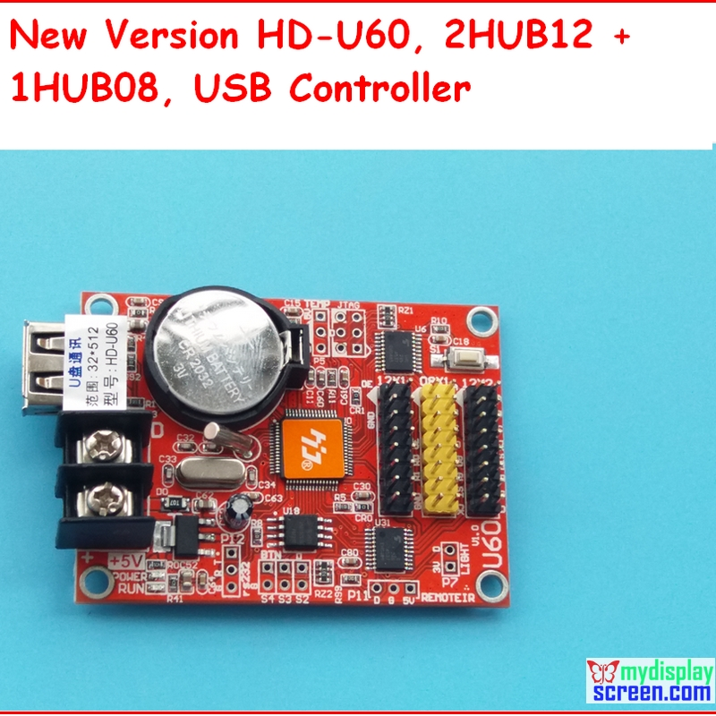 Huidu A40s/U60 + Usb Support , Control Size 512*32;p10 Led Panel Controller,support HUB12,HUB08,monochrom,one Color Controller