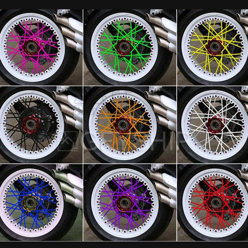 Motorcycle Motorcross Pit Dirt Bike Enduro Off Road Rim Wheel spoke skins cover For Yamaha Ducati KTM Suzuki Honda Kymco ATV in Covers Ornamental Mouldings from Automobiles Motorcycles