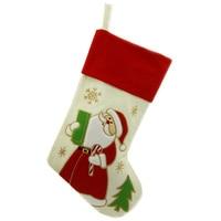 Lovely 2 Pcs Christmas Stocking 18 Santa Claus Snowman Gift Sock Festival Xmas Socks Christmas Decor