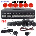 a set Special for all Cars Parking Sensor Reverse Backup Radar Sensors with 6 Sensors 9 colors to choose buzzer sound
