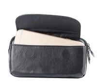 Belt Clip Genuine Cow Leather Cell Phone Case Pouch For Xiaomi Redmi Note 4 MediaTek Redmi
