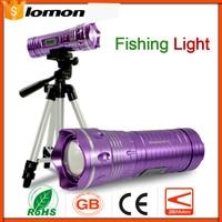 Professional LED Fishing Light LED Flashlight 2 Color Blue Purple Triangle bracket Set Handy Portable Light Waterproof Torch