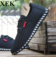 XEK Spring/Summer Men Shoes Breathable Mens Shoes Casual Fashio Low Lace up Canvas Shoes Flats ZLL48