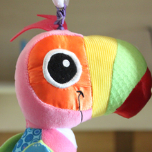 Baby Rattles Mobiles Educational Baby Toys Plush Parrot Toddler Toys