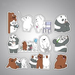Image 5 - 36 pçs bonito panda urso adesivos anime adesivos adesivo à prova ddiy água para decoração diy estilo do carro da bicicleta motocicleta telefone portátil