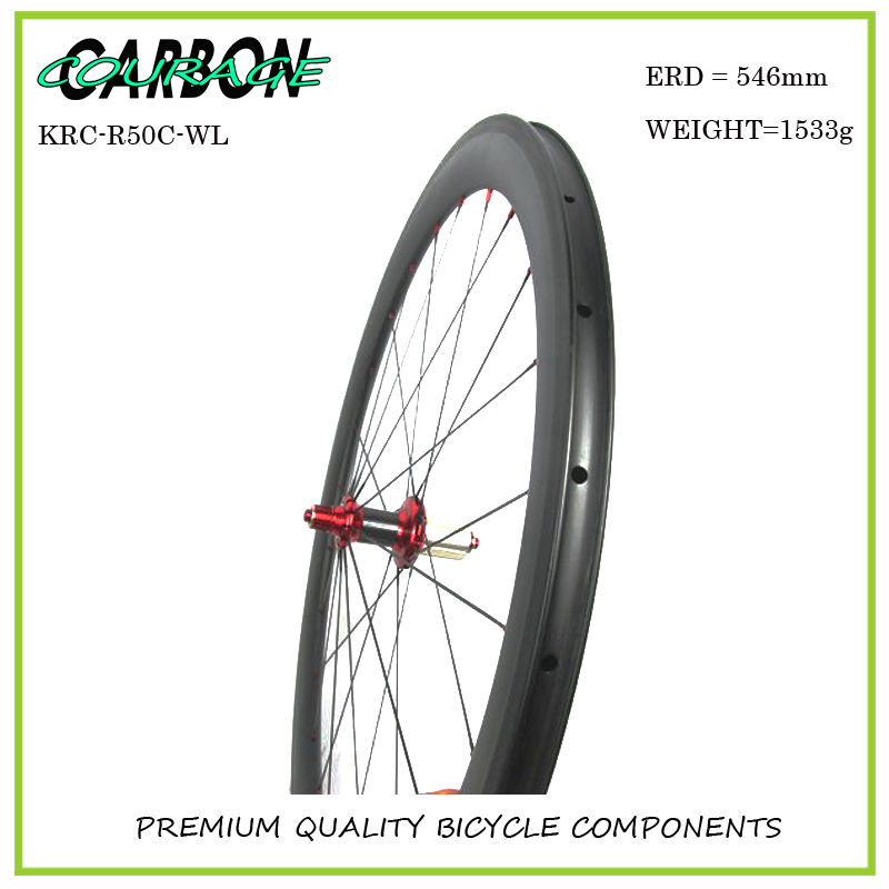 700c clincher carbon wheelset 50mm carbon 3k carbon speed cycle wheel ceramic bearings  r36 hub new design carbon wheel titanium material light and more safe 50mm clincher 700c