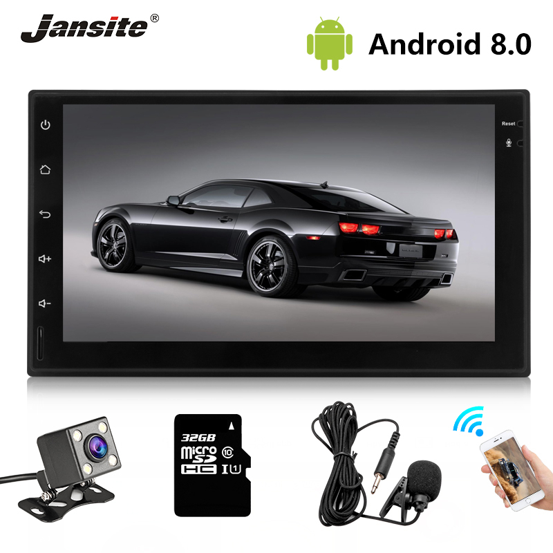 Jansite 7 2 din Car Radio MP5 Android 8.1 player HD 1080P Digital Touch screen mirror + Bluetooth Car Stereo with microphoneJansite 7 2 din Car Radio MP5 Android 8.1 player HD 1080P Digital Touch screen mirror + Bluetooth Car Stereo with microphone