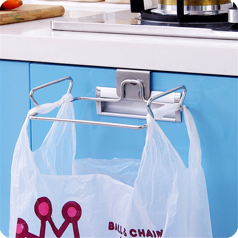 YIHONG stainless steel kitchen trash bag shelf storage organizer ...