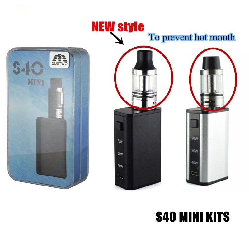 Elektronische Zigarette kit S40 mini Box Mod Shisha stift 0.5ohm Verdampfer vape kits vaper vape stift 1600 mah shisha zu vape ego