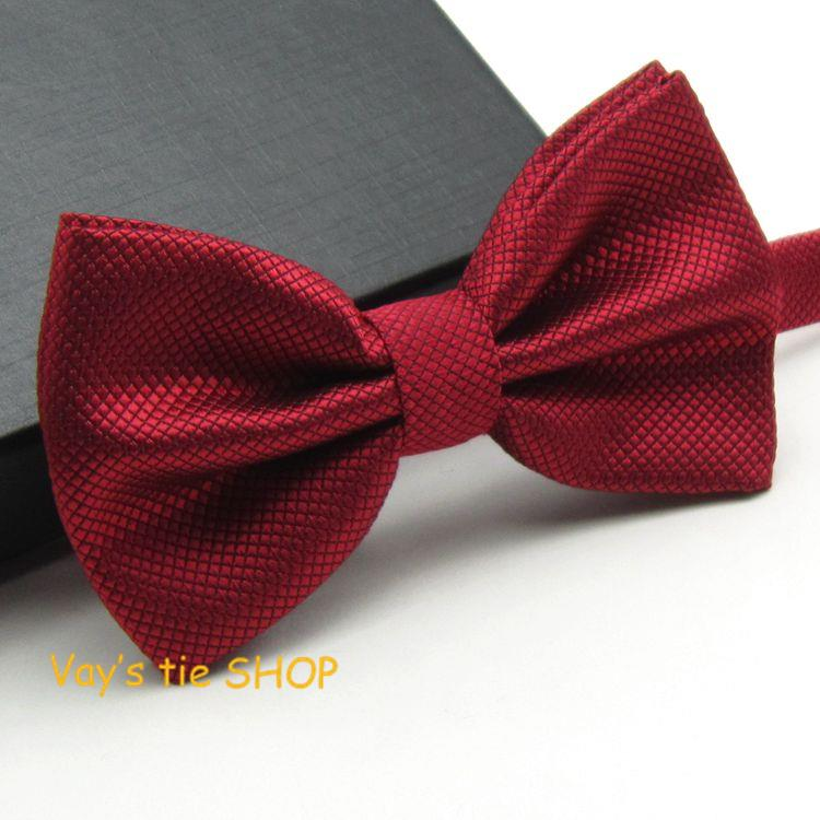 Noeud Papillon Mens Fashion Dull Jacquard Plaid Grid Leisure Solid Bowtie Wedding Tuxedo Bow Ties Free Shipping Wine Butterflys