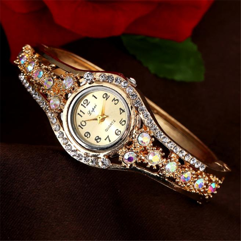 Lvpai Women Watches 2018 Rhinestone Bracelet Wristwatches Fashion Classic Ladies Watches Luxury Vintage Wrist Dress Quartz Watch 2017 lvpai flower rose gold bracelet watches women fashion casual quartz watch rhinestone wristwatches girls bangle women watch