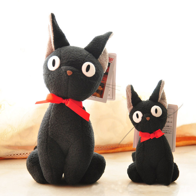 23cm Japan Hayao Miyazaki Totoro Witch's Home Delivery Black Cat Kiki Cartoon Anime Plush Doll Stuffed Toys For Children цена 2017