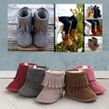 New Fringed Moccasins Fashion Street Baby Shoes Suede Leather Tassel Toddler Boots Babies Shoes First Walkers ROM22