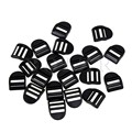 BQLZR 20pcs Plastic Ladder Lock Slider Buckles Backpack Straps Webbing 20mm Black