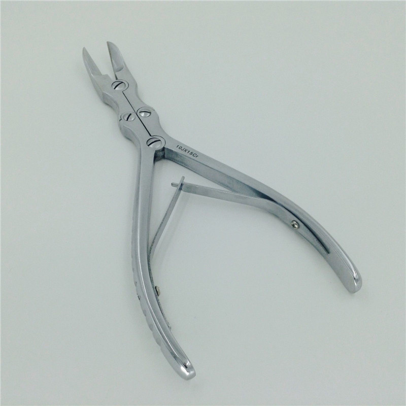 Curved Double Action Double-jointed Bone Cutter Scissor Veterinary Orthopedic Instrument