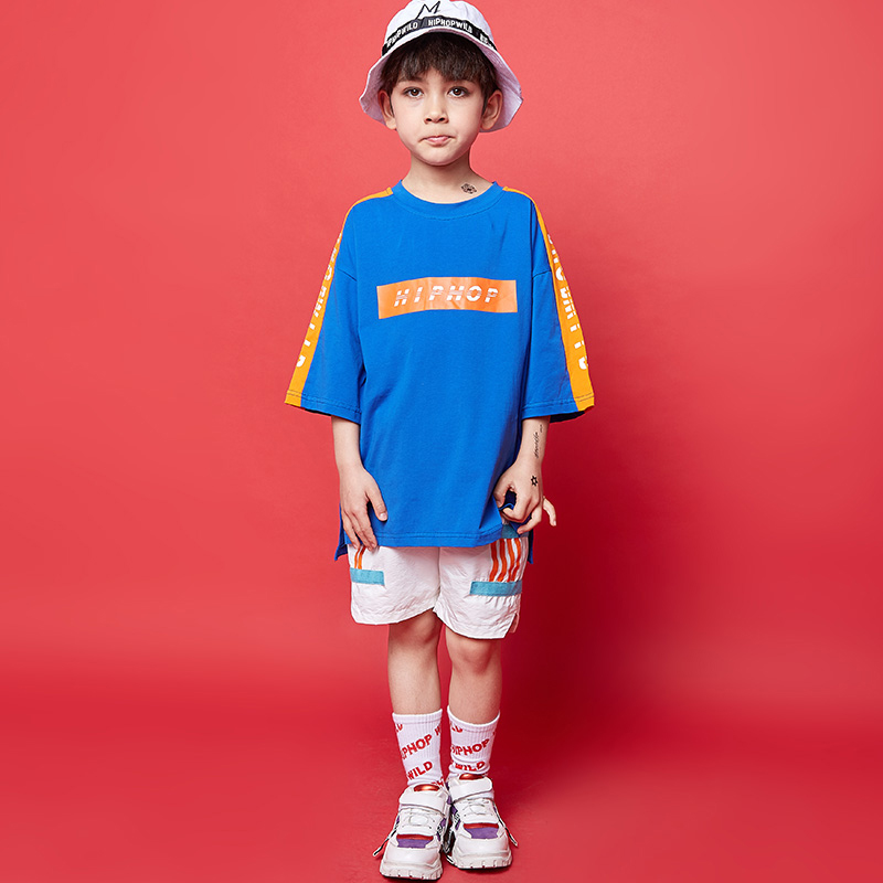 New Hip Hop Dance Costumes Kids Boys Street Dance Suit Children'S Jazz Performance Dancing Wear Stage Costumes For Kids DQS2070