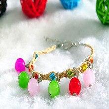 Fashion Women girl Crystal Bracelet Multicolor  Handmade Rose Lafite Love Necklace/Bracelet Gift