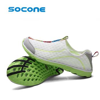 Nowe trampki męskie i damskie buty do sportów wodnych szybkoschnące trampki lekkie oddychające buty do surfingu obuwie plażowe tanie i dobre opinie SOCONE CN (pochodzenie) Wsuwane Siateczka (przepuszczająca powietrze) Plaża działań Profesjonalne Szybkie suszenie Summer2016