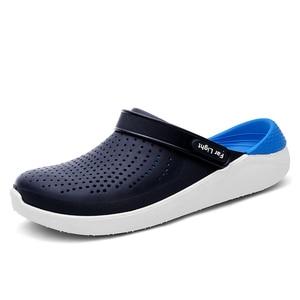 Image 4 - Summer Beach Shoes Woman Outdoor Slippers Breathable Sandals Men Antiskid Slides Couples Flip Flops Slip on Crocse Zapatillas