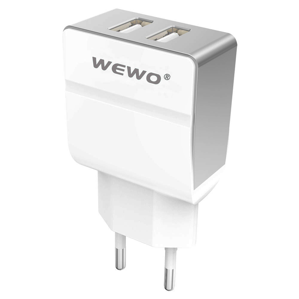 WEWO Dual USB 5V 2.4 A Cell Phone Charger Fast Mobile Phone Charger For Samsung iPhone 6 6S 7 7S iPad Note 7 Mate 9 XIAOMI