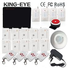 433 mhz wi-fi voice immediate quad band gsm alarm programs safety house equipment  roof ceiling infrared sensor door safety alarm