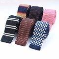 Mens Casual Corbata de Punto de Punto Corbata Estrecha Flacas Delgadas Dot Corbatas Gravatas Clásica Tejer Hilo Cinta Diseñadores