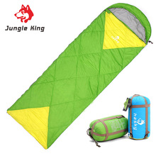 Jungle King new spring lightweight imitation silk sleeping bags outdoor camping  bag can splice double envelope type