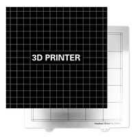 Accessoires d'imprimante 3D 300X300Mm plaque d'acier chaude de lit + combinaison d'autocollant de Plate-forme pour la créalité Cr-10 Tevo tornade Lulzbot Ta