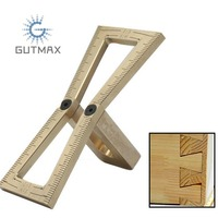 Dovetail Mortise Gauge Hand Cut Copper Marker Template Size 1:5 1:6 1:7 1:8 Wood Measuring Tool HY30