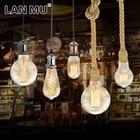 LAN MU Vintage Edison Bulb E27 Retro Lamp 220V 40W Incandescent Light A19 A60 ST64 T10 T45 T185 G80 G95 Filament Light Bulb