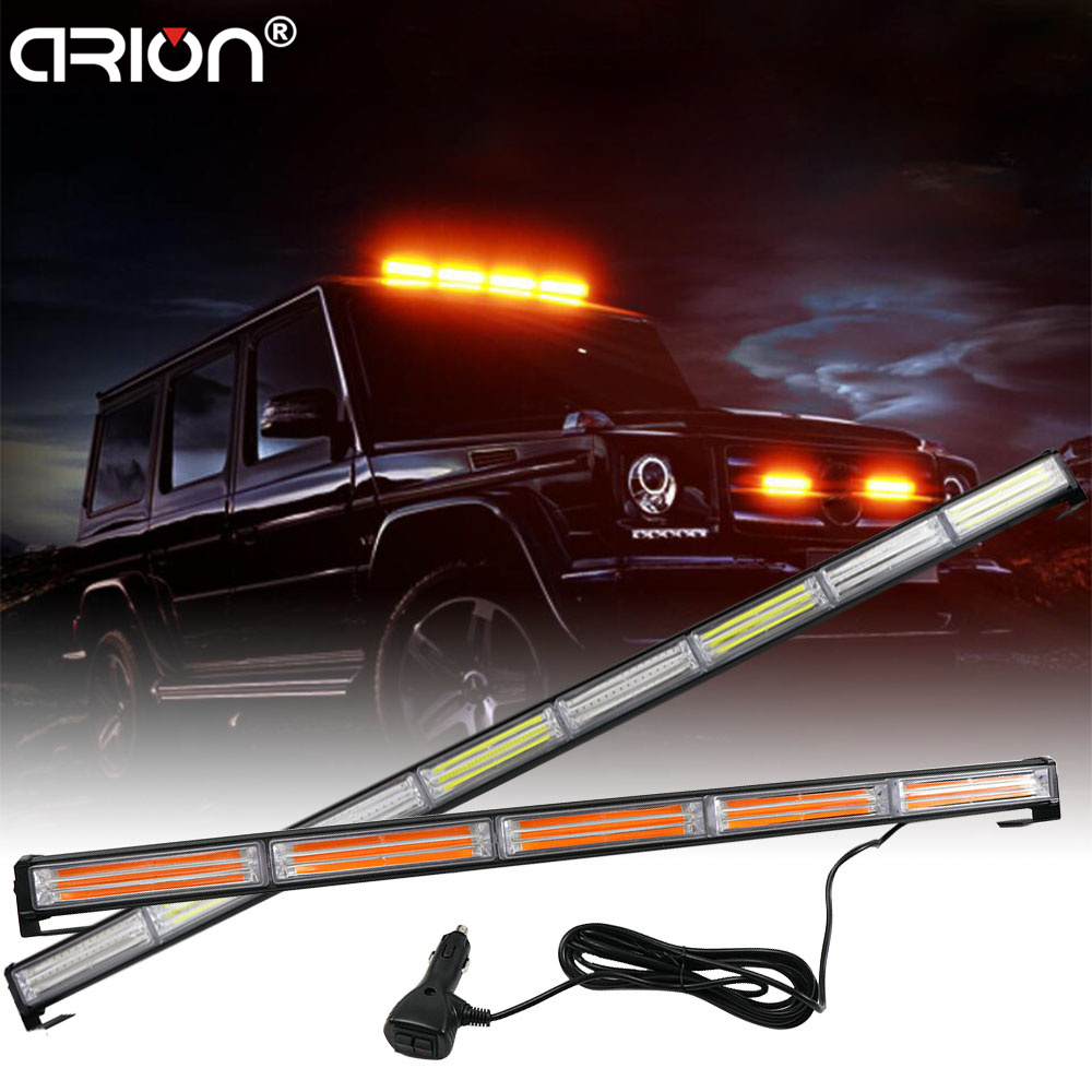 CIRION 36W to 144W COB LED Flashing Strobe Light Bar Traffic Vehicle Car Emergency Warning Lamp