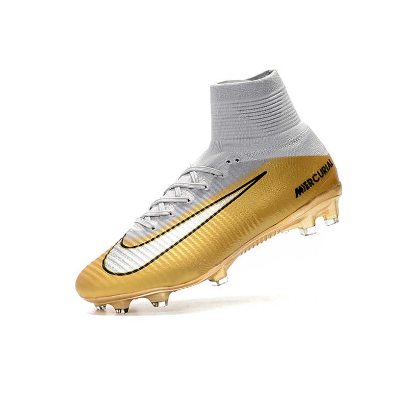 low priced 804af dd97e Nike MERCURIAL SUPERFLY V AG Soccer Shoes Superfly High Ankle Football  Boots Outdoor for Men 831955-002 39-45