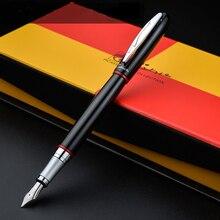 Pimio 907 Роскошные гладкие черный и красный цвета в полоску 0.5 мм Иридиум Перо из металла авторучка с оригинальной подарочной коробке чернила ручки бесплатная Доставка